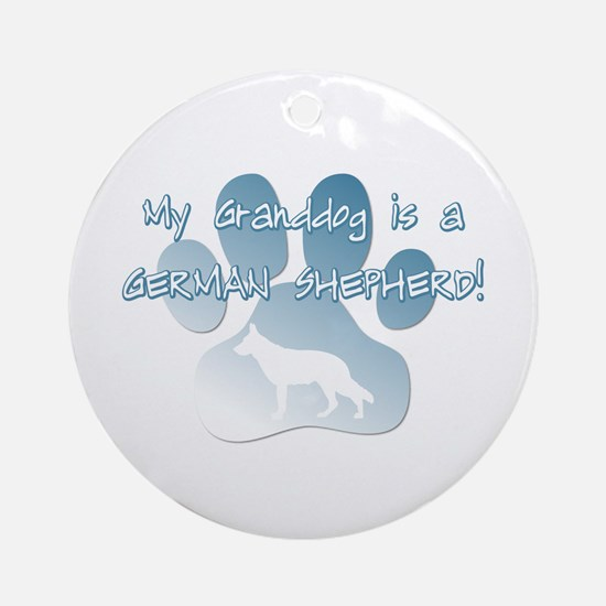 German Shepherd Granddog Ornament (Round)