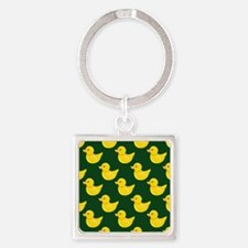 Forest Green and Yellow Rubber Duck, Ducky Keychai