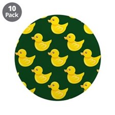 """Forest Green and Yellow Rubber Duck, Ducky 3.5"""" Bu"""