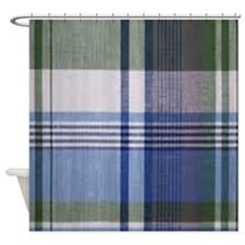 comfortable plaid Shower Curtain