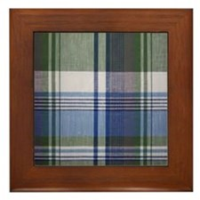 comfortable plaid Framed Tile