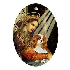 Madonna & Cavalier Ornament (Oval)