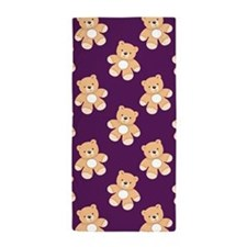 Deep Purple Teddy Bear, Bears Beach Towel