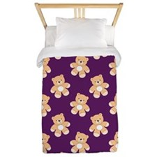 Deep Purple Teddy Bear, Bears Twin Duvet