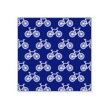 White Bicycle, Cycling Pattern; Dark Blue Sticker