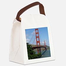 Unique Golden gate bridge photo Canvas Lunch Bag