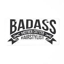 Badass Mother Cutter Aluminum License Plate