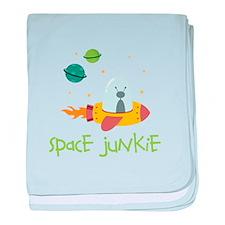 Space Junkie baby blanket