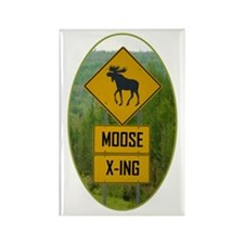 MOOSE CROSSING Rectangle Magnet