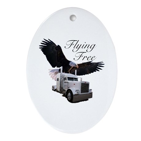 Flying Free Oval Ornament