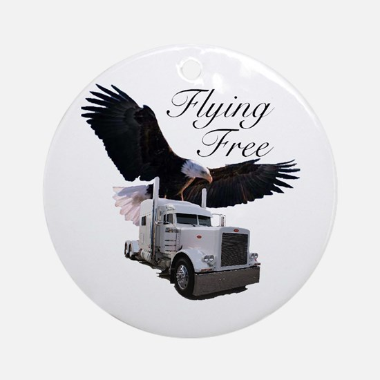 Flying Free Ornament (Round)