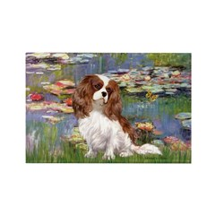 Lilies2 & Cavalier Rectangle Magnet (10 pack)