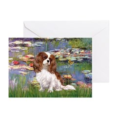 Lilies2 & Cavalier Greeting Cards (Pk of 10)