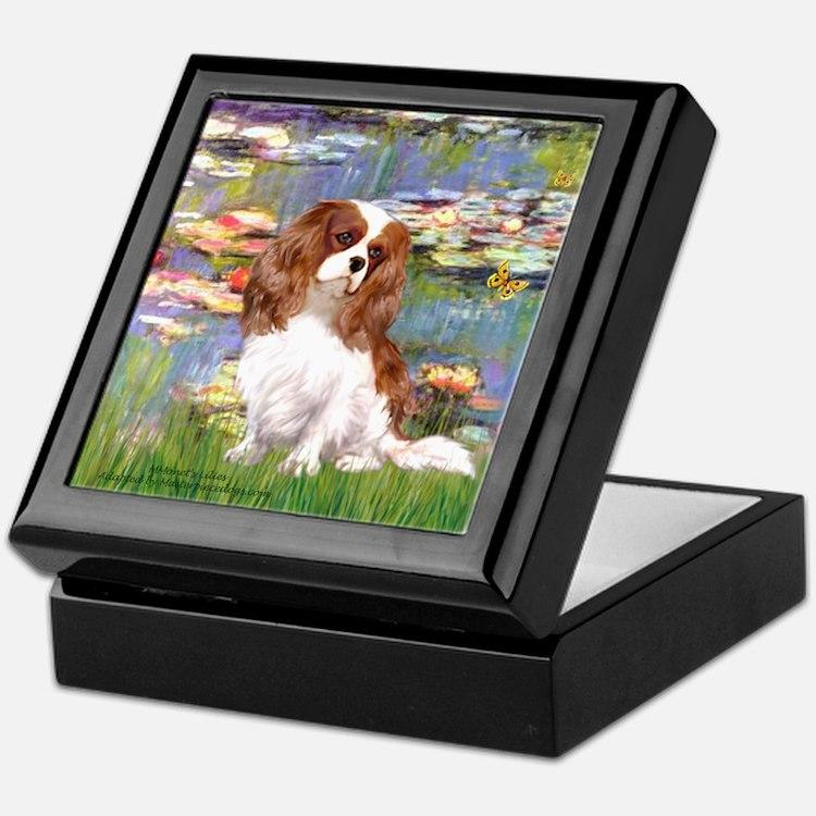 Lilies2 & Cavalier Keepsake Box
