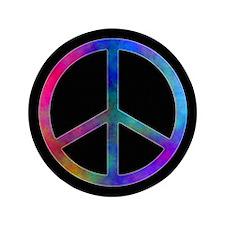 "Multicolor Peace Sign 3.5"" Button"