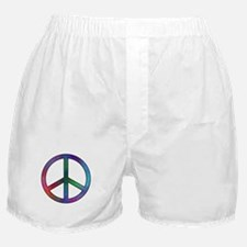 Multicolor Peace Sign Boxer Shorts