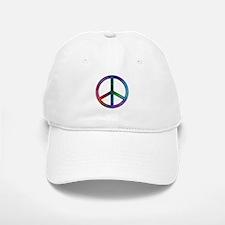 Multicolor Peace Sign Baseball Baseball Cap