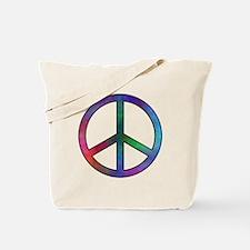 Multicolor Peace Sign Tote Bag