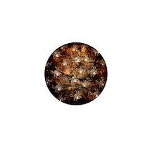 White Spiders In Tree Stump Mini Button (10 pack)