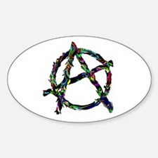 Anarchy Symbol Oval Decal
