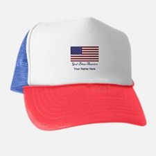 God Bless America Personalize Trucker Hat