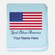 God Bless America Personalize Baby Blanket