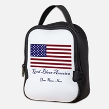 God Bless America Personalize Neoprene Lunch Bag