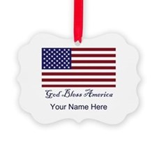 God Bless America Personalize Ornament