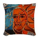 Hatha Sun/Moon Version 3 Woven Throw Pillow