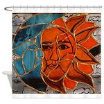 Hatha Sun/Moon Version 3 Shower Curtain
