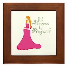 The Princess Is Pregnant! Framed Tile