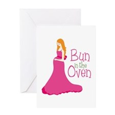 Bun In The Oven Greeting Cards