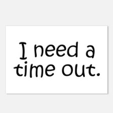 I need a time out! Postcards (Package of 8)