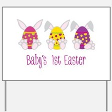 Babys 1st Easter Yard Sign