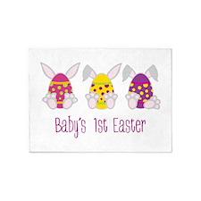 Babys 1st Easter 5'x7'Area Rug