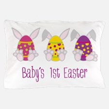 Babys 1st Easter Pillow Case
