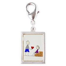 Couple love transparent Charms