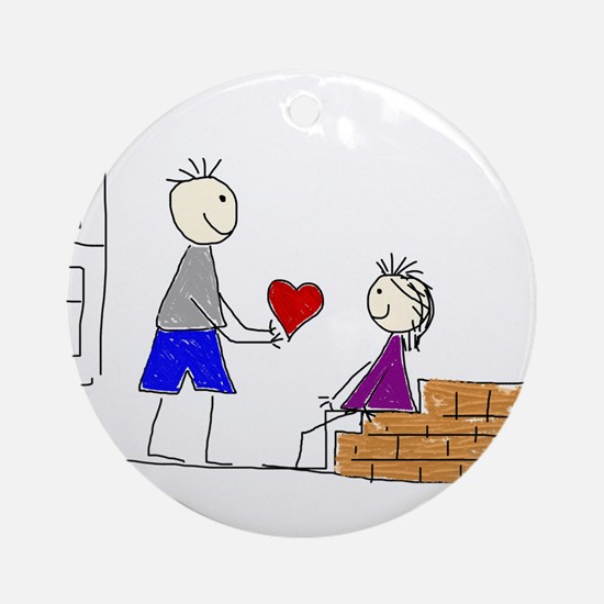 Couple love transparent Ornament (Round)