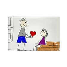 Couple love transparent Magnets