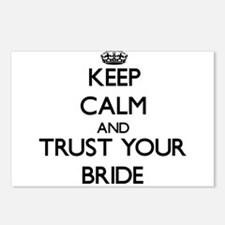 Keep Calm and Trust your Bride Postcards (Package