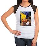 Cafe & Cavalier Women's Cap Sleeve T-Shirt