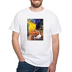 Cafe & Cavalier White T-Shirt