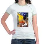 Cafe & Cavalier Jr. Ringer T-Shirt