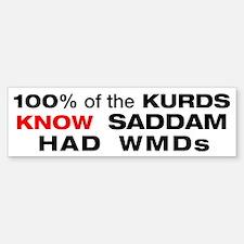 """white """"Kurds know"""" bumper sticker"""
