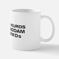 """white """"Kurds know"""" Mug"""