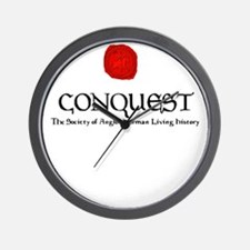 Conquest Logo and Seal Large Wall Clock