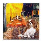 Cafe & Cavalier Tile Coaster