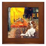 Cafe & Cavalier Framed Tile