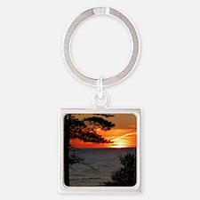 Lake Superior sunset Keychains