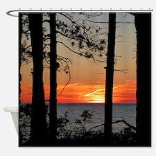 Lake Superior sunset Shower Curtain